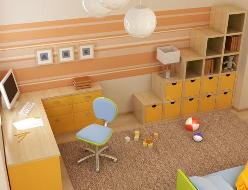 Rayas y cuadros en dormitorios infantiles. Juega con los materiales